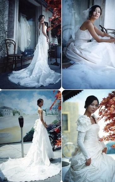 图文:韩星孙泰英婚纱写真曝光--百变新娘