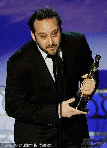 图文:第82届奥斯卡颁奖现场-《商标电影》获最佳动画短片奖