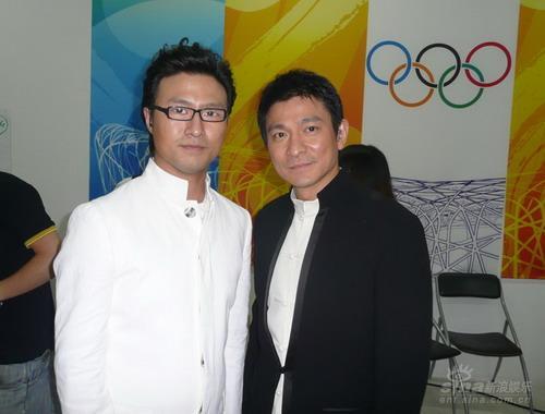 汪峰兴奋与偶像同台演出不舍奥运圣火熄灭(图)