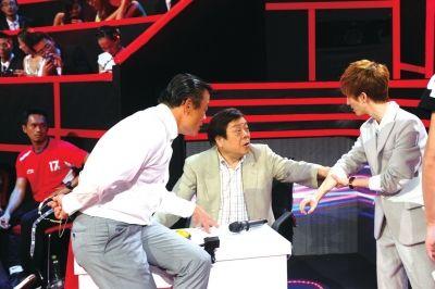 周立波、赵忠祥、郭敬明在节目现场