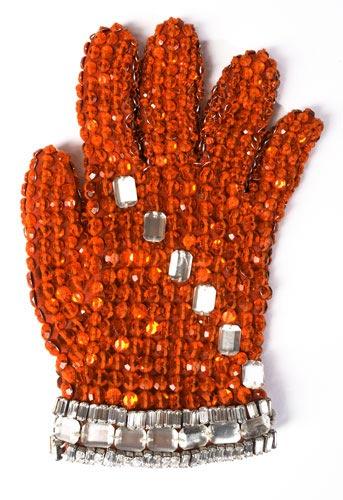 图文:杰克逊拍卖大全--镶水晶的手套