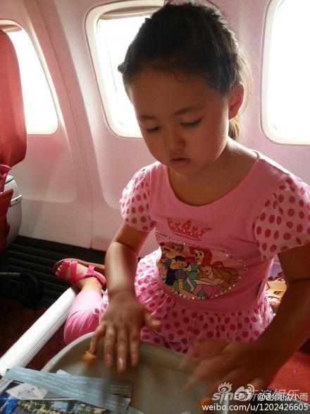 谢雨欣5岁小女儿可爱