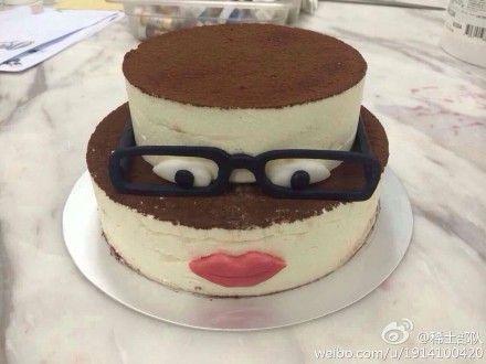 章子怡为汪峰特别定制的蛋糕