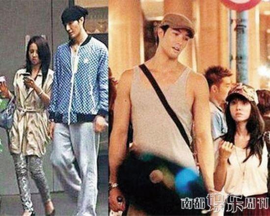 蔡依林和锦荣的高矮配姐弟恋。