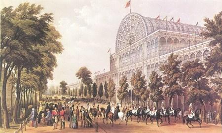 1851年5月1日的水晶宫外景
