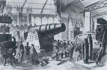 德国克虏伯的1000磅巨炮成为世博会展品