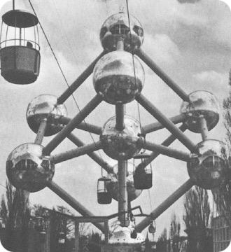"""1958年布鲁塞尔世博会""""原子塔"""""""