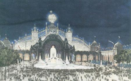 1900年巴黎世博会夜景