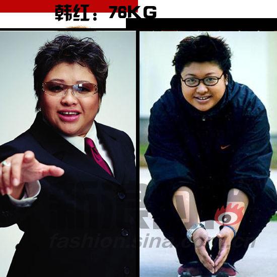 韩红 体重:76KG