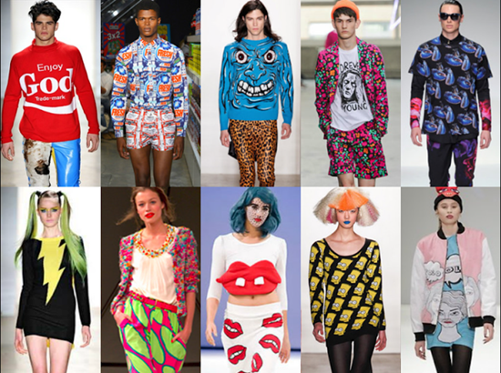 不少服装设计师,平面设计师都直接或间接的从波普艺术中取得灵感.