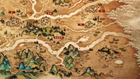 《轩辕剑肆》国画风格大地图