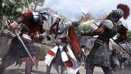 Ezio的武器Level-up,左手里的袖枪可以主武器同时使用,也可以用于处决