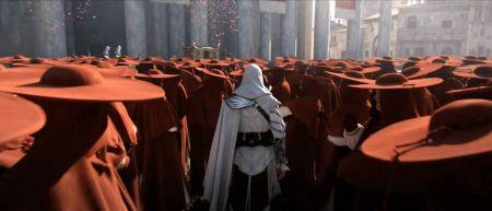 Ezio在教皇的信徒中穿梭