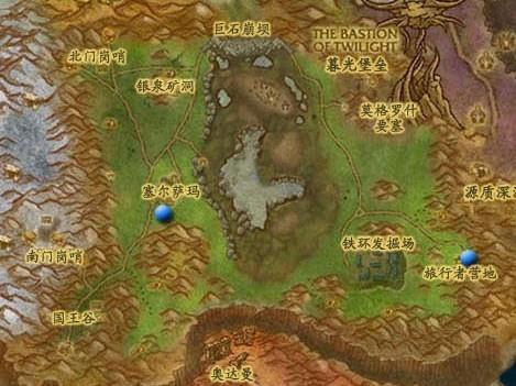 大灾变地图详细位置坐标 东部王国 5