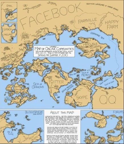 社交网络分布版图