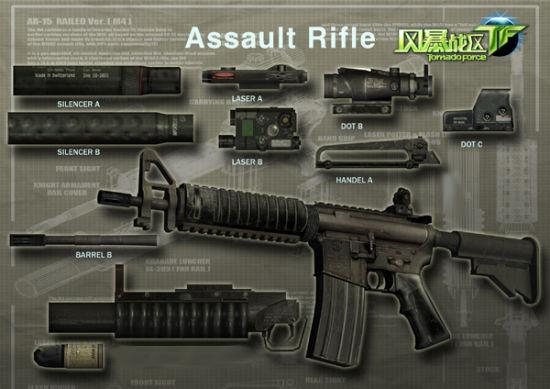美国陆军部专用枪。m4a1是M16突击步枪的缩短版本,它的特色是射速很快,后坐力小,在远射方面有很强的优势,虽然m4a1不属于大威力重型枪械,但一些操作风骚的玩家却能充分发挥它的作用,在最快的时间里消灭敌人。   pistol手枪    相对其他重型机枪来说,手枪一般用于近距离自卫,由于短小轻便携带安全,且换弹夹和瞄准都非常快,通常被一些FPS神人作为专用武器使用,不过唯一的缺点是在远射程上比较吃亏,不可作为全能型武器使用。   grenade手榴弹 grenade手榴弹