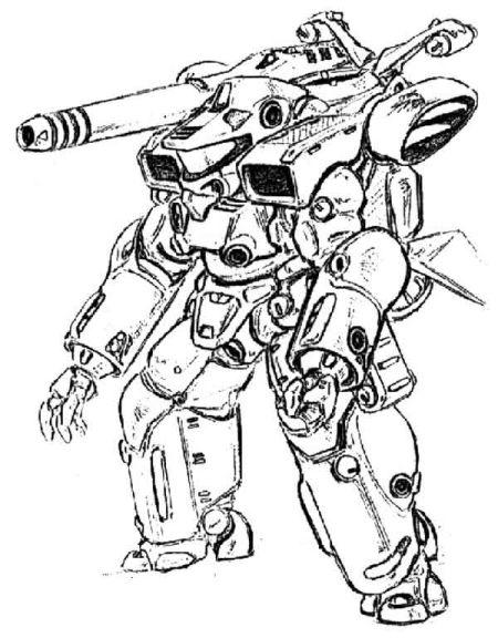 《星际船上的伞兵》动画片中的动力装甲,是目前看来最靠谱的一个