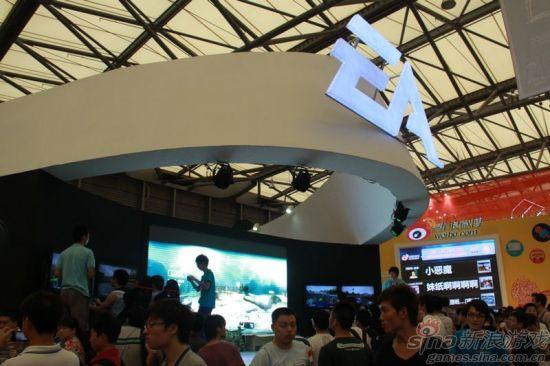 图四:EA游戏展台