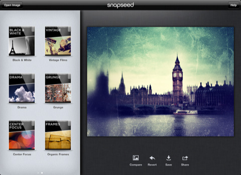 手机也能出大片Snapseed