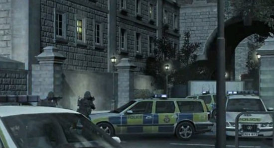 黑色风格的突击部队在伦敦街道上大肆屠杀