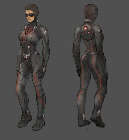 地球共和国Stealth人物原画设定