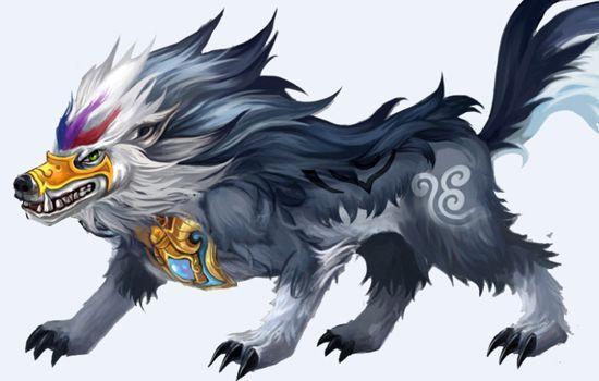 神兽狼漫画手绘可爱