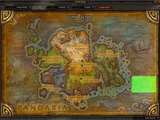 永恒之岛在潘达利亚的位置