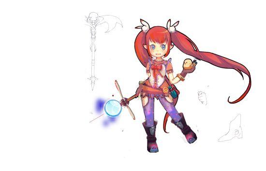 《萌斗罗》里可爱的loli英雄——魔晶法师原画设定
