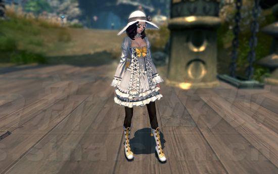 女典雅男绅士 剑灵男女通穿白色洛丽塔图片