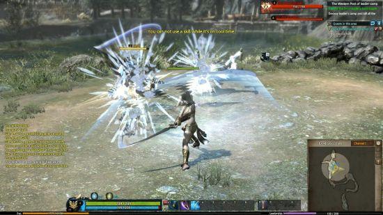 """""""Spellsword""""的冰系技能Ice Sword能向前方发射弧形剑气"""