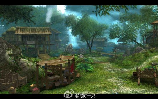 《仙剑5前传》碧溪村游戏中场景