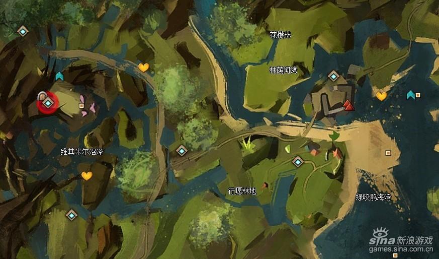 激战2世界BOSS巨型丛林地虫刷最近传送点
