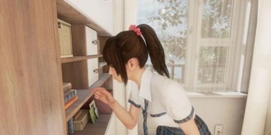 女孩坐在椅子上 打开笔记本开始朗读英语