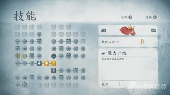 走格子的技能天赋树给了玩家充分的升级自由度