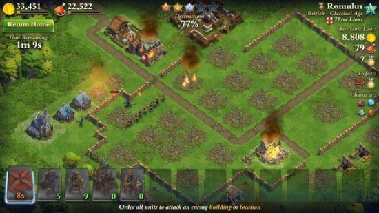 图注:游戏中的战斗效果比较写实,战火硝烟四起