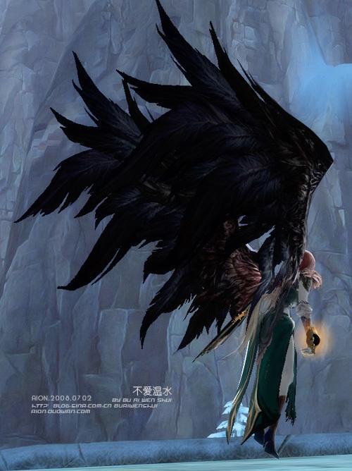 黑白头像魔鬼翅膀