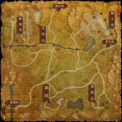 咸阳城郊外地图