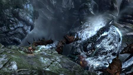 战神3最具代表性的场景:站在泰坦身上,和海神波塞冬作战