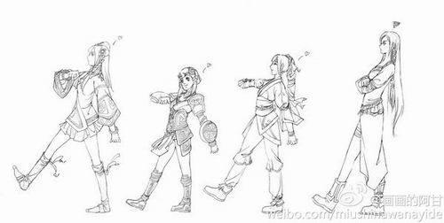 """玩家""""画画的阿甘""""创作双剑同人画"""