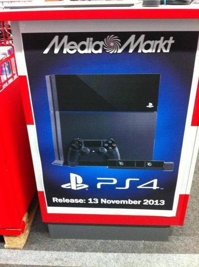 11月13日!欧洲零售商疑似已泄露PS4发售日期