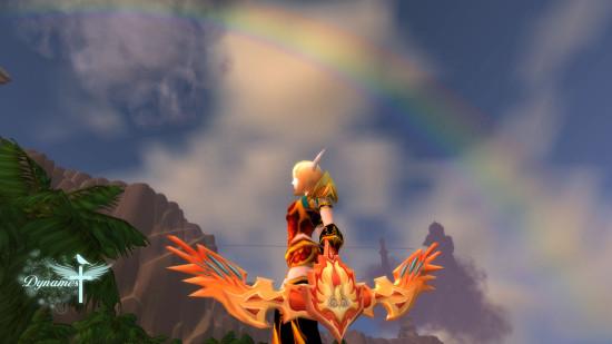 魔兽世界猎人幻化 彩虹下的火焰黑丝图片