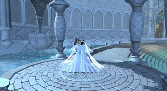 FF14玩家婚礼登记任务截图 婚礼服简直美哭了
