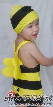 小蜜蜂版泳衣   最后送上宇宙第一最可爱的小蜜