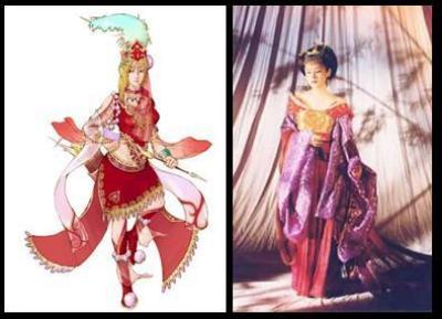 动漫古代裙子简笔画