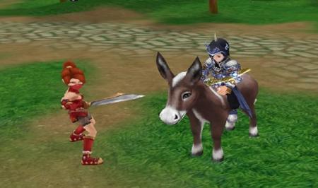 骑着驴子虐这样的美女别有一翻