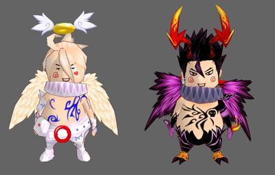 恶魔小丑和天使小丑