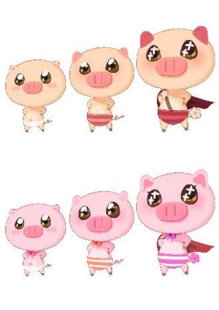 和动画片中的晴天小猪相比
