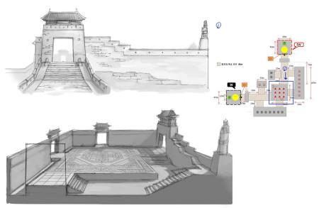 这座金子塔原画设计的数据与现实的玛雅金字塔类似,它的底座呈正方形