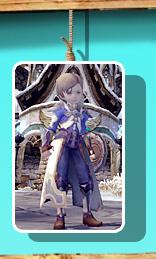 蓝色光明长袍套装