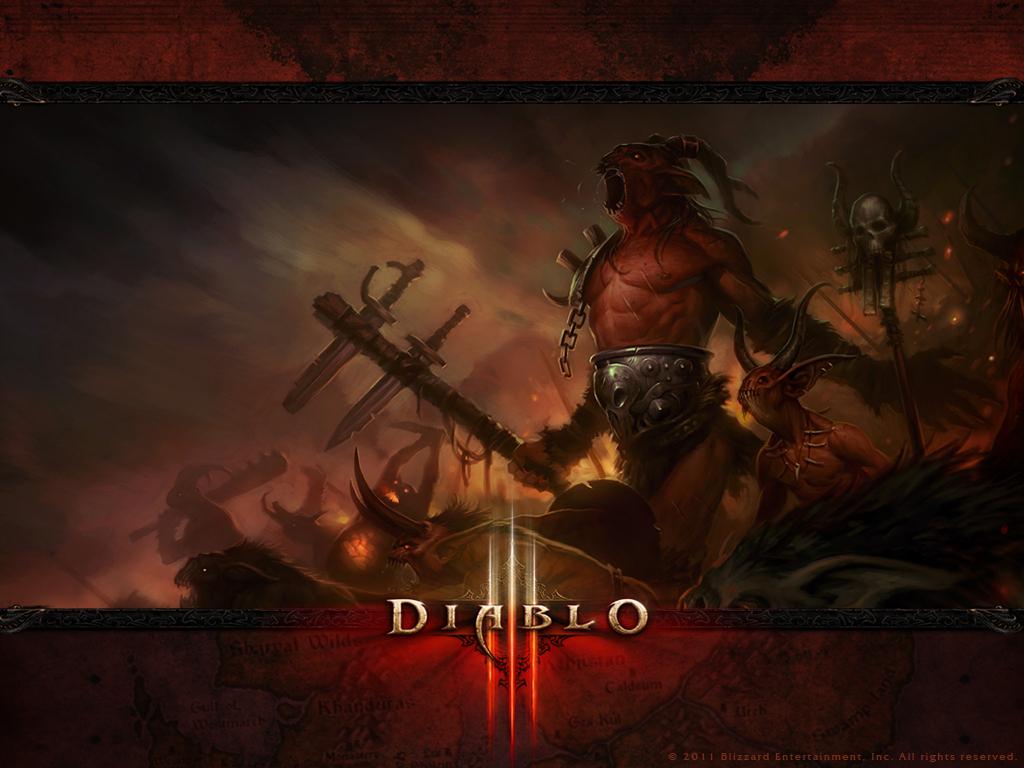 《暗黑3》壁纸:恶魔(2)你看了吗?